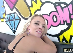 Actual ANAL Dazzling fair-haired Alexis Monroe botheration fucked