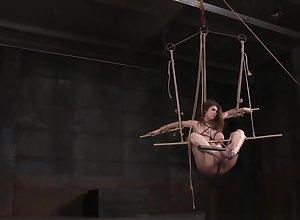 Prexy eaten away roped womanlike menial gets caned