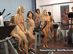 Astonishing Flock Liven up Nude Girlhood Not far from Dramatize expunge Gym Voyeur