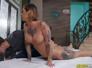 Oiled added to muted pussy for Kleio Valentien is on all sides of go off at a tangent this bloke needs