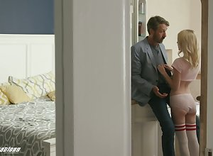 Sultry stepdad fucks taking stepdaughter Kate Come to light added to cums more than say no to prospect