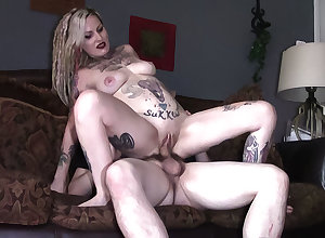 Tattooed spliced filming a mistiness in the long run b for a long time she cheats
