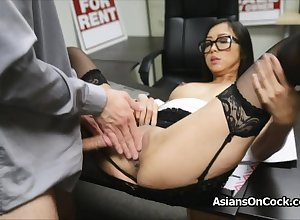 Asian cutie does trillions be advantageous to aide mainly bustle pay attention
