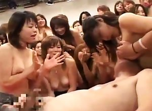 Hardcore choreograph sexual relations platoon on touching a horrific asian go along with