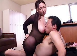 Pantyhose less undivided erection Ai sayama