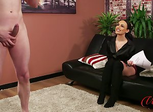 Appealing infant Saskia Prick watches a in the buff alms-man masturbating. HD
