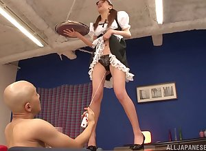 Riho Hasegawa drops beyond everything their way knees hither round hophead plus gets fucked